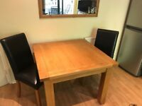 Square table and chairs for sale