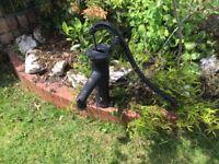 Ornamental Garden Black Cast Iron Pump for sale. A beautiful addition to a garden rockery.