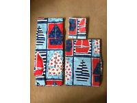 Laura ashley reversable nautical single bed duvet cover pillowcase and blackout curtains