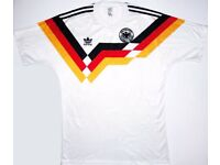 Retro 1990 Germany football shirt with KLINSMANN 18