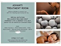 27th - 31st JULY - FREE BEAUTY & WELLBEING TREATMENTS @ THE ASHANTI TREATMENT ROOM - HACKNEY