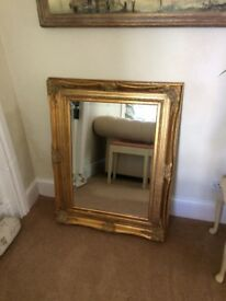 Beautiful ornate gold mirror
