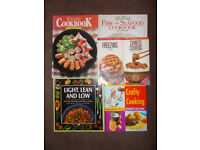 Six cookery books for sale