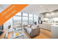 **ONE MONTH RENT FREE** 1 Bed apartment to rent with stunning views across London
