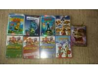 Kids DVDs x 9