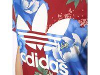 BNWT Adidas Originals Womens Chita Boyfriend Tee Multicolor T Shirt SIZE 12 SIZE 10