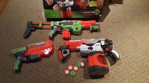 Lot of 3  nerf. guns with ammo
