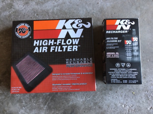 K & N Air Filter and Recharger Cleaner Kit Chev Equinox