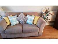 Next 2 seater sofa and cuddle chair