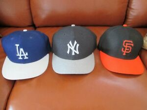 Collection de 3 casquettes New Era Authentic Baseball NEUVE