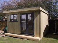 fully insulated timber garden buildings - we build to suit your space