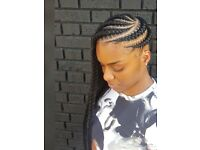 Mobile Afro European hairdresser crochet, braids, feed in braids, faux locs, micro rings