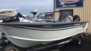 **1987 BLUE FIN WITH 60 FOURSTROKE MERCURY 2005**