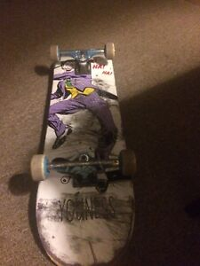Barely used. Almost deck with thundertrucks