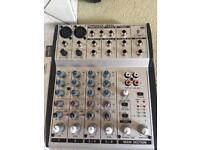 Behringer UB802 audio mixer