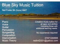 Piano tuition in Belfast. Beginners, improvers, songwriters and improvisers welcome.
