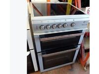 WHITE FLAVAL CHROME DESIGN FREE STANDING 60cm ELECTRIC COOKER, 4 MONTHS WARRANTY