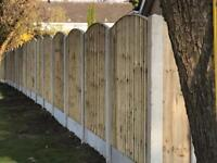 🌲Bow Top Pressure Treated Vertical Board Fence Panels
