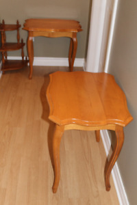 2 Hardwood Bed or Sofa End Tables in Excellent Condition