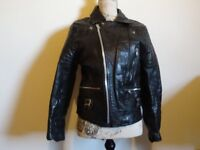 Vintage leather biker jacket - ladies or small gents