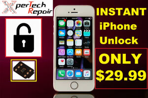 Instant IPhone Unlock with all carriers! >$29.99<LESS THEN 10 MN