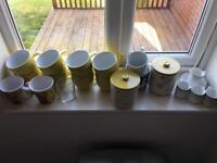 Kitchen mugs, jars and espresso set