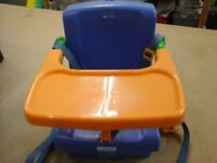 Portable folding high chair