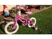 "Girls 14"" disney princess bike good condition"