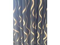 Full length black & gold curtains