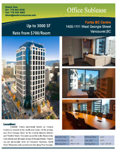 sublease- 1111 West Georgia St (Fortis BC)