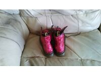Red Doc Martens size 4