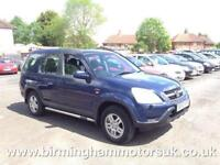2002 (52 Reg) Honda CR-V 2.0 SE SPORT AUTOMATIC 5DR Estate BLUE + LONG MOT