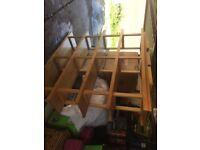 Solid large Ikea shelving unit