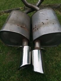 S-type Jaguar 3ltr Petrol...2 x Back tail pipe exhaust boxes..2002 plate