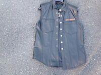 Harley Davidson leather waistcoat