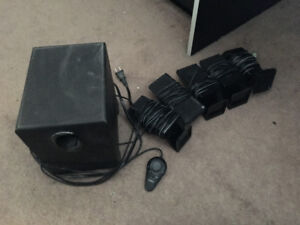 Full Surround Sound System (5 speakers and sub box)