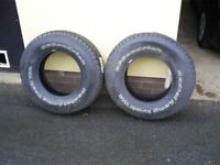 BF GOODRICH LONG TRAIL TYRES ,Ford ranger,daihatsu,ssangyong