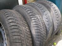 * * * * x4 Toyota Yaris wheels and tyres V. Good condition 155/80r13 * * * *