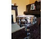 Pearl Sensitone steel snare drum