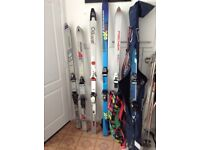 Skis boots and bindings .poles