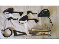 kawasaki zx12r spares.short levers.race can.longer rep mirrors,rear led tail light.as new