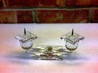 Swarovski Crystal 2 place candle holder