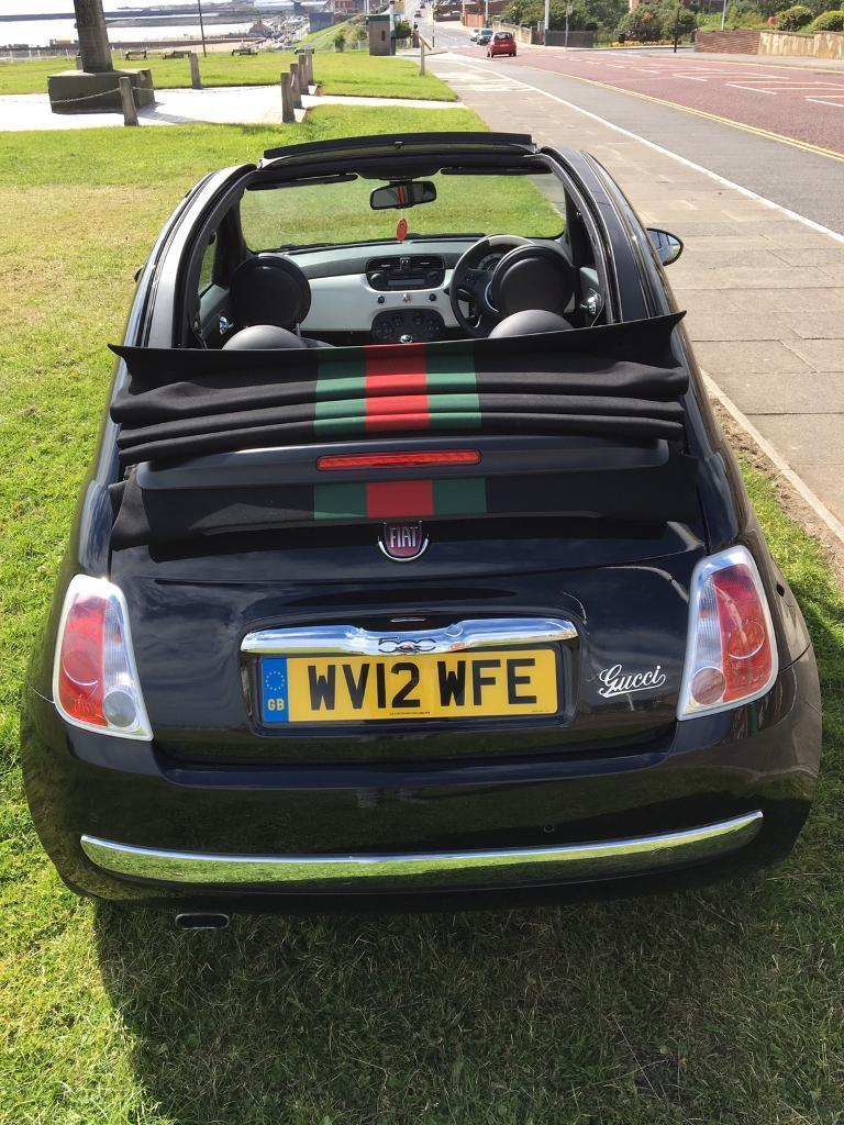 black gucci edition fiat 500 convertible in newcastle tyne and wear gumtree. Black Bedroom Furniture Sets. Home Design Ideas
