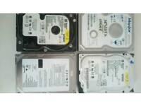 4x hard drives