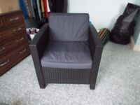 Large Garden Chair with Cushions