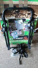 Rear mounted universal bike rack