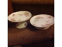Pair of matching cake stands