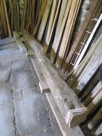 Old Oak Reclaimed Beam 4.6m long 300mm x 300mm reducing to 250mm X 250mm