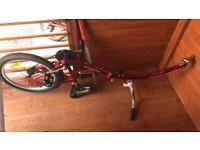 Weeride tag along co pilot bike trailer