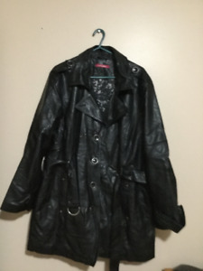Black coat 3/4 length.  Size 2X